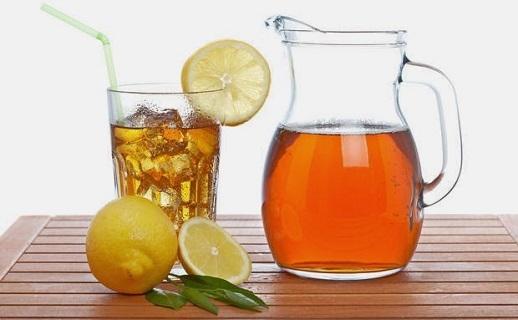 Ev yapımı limonlu buzlu çay