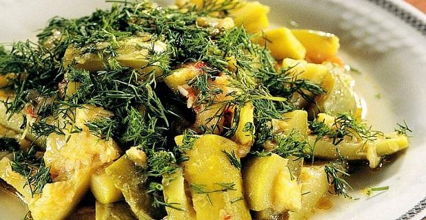 Az kalorili zeytinyağlı kabak yemeği tarifi